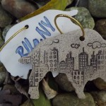 Buffalo With Skyline Ornament